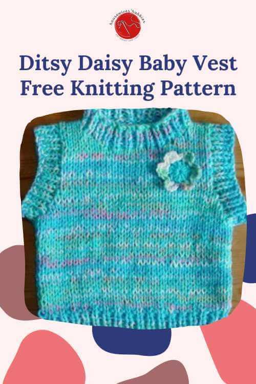 Ditsy Daisy Baby Vest Free Knitting Pattern
