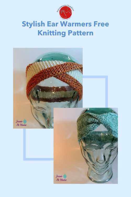 Stylish Ear Warmers Free Knitting Pattern